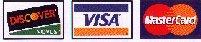 Discover, VISA, MasterCard