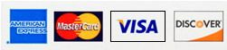 Discover, VISA, MasterCard