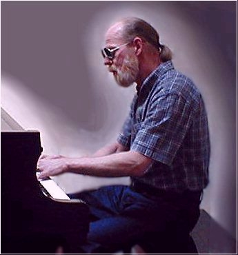 At a hotel piano in California (May 2004)